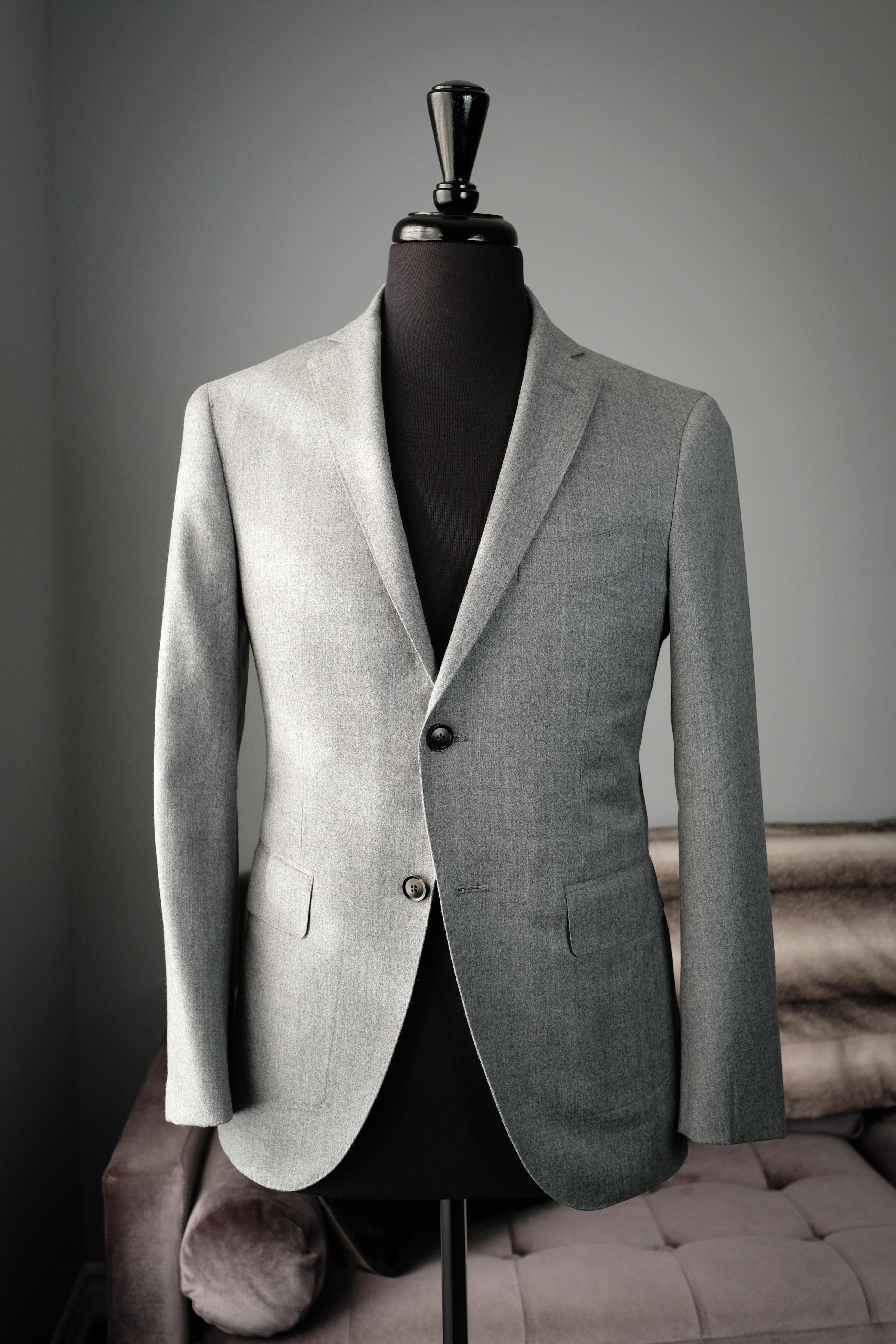Men's grey suit jacket