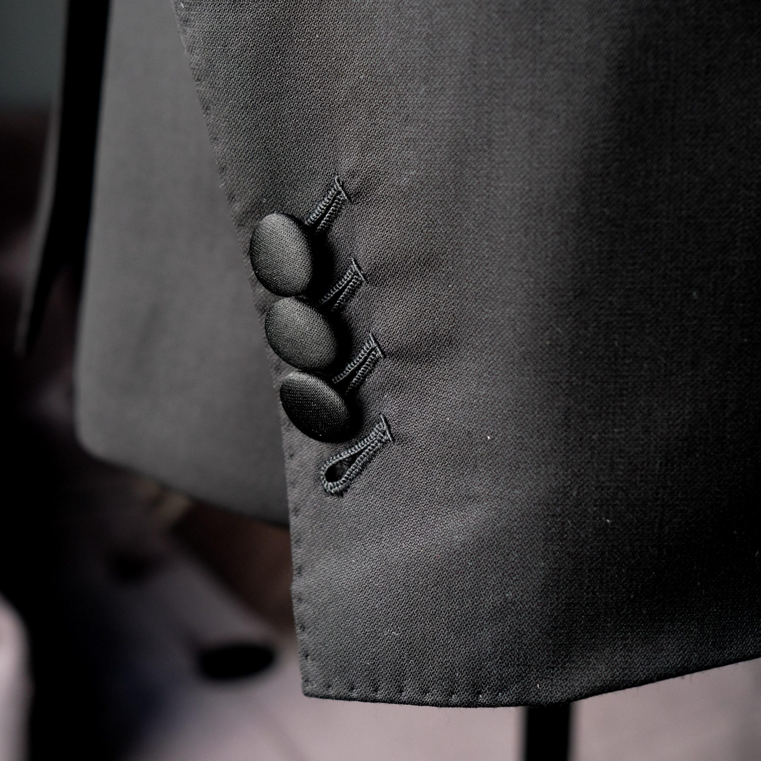 Satin Wrapped Tuxedo Jacket Buttons