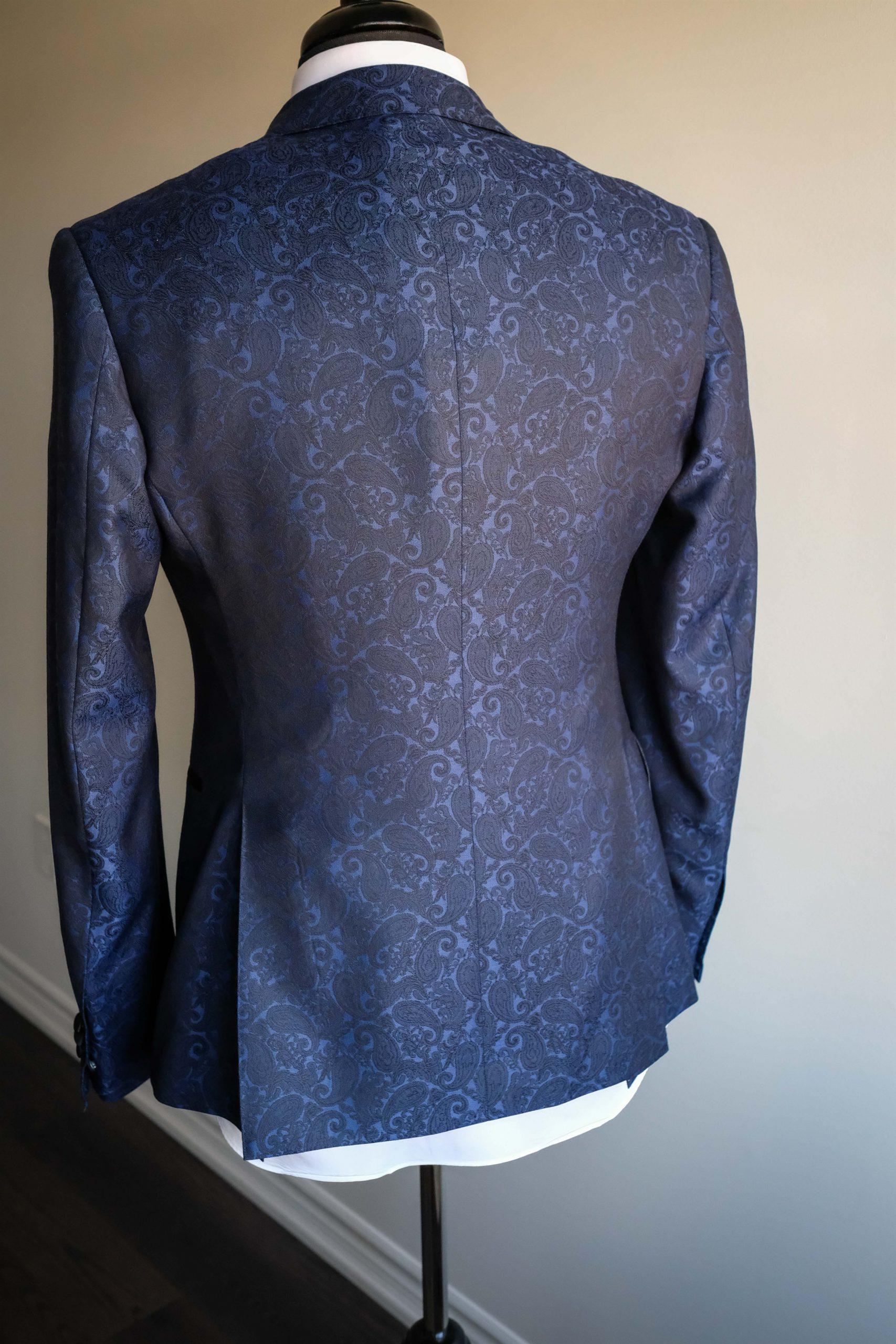 Double Vented Paisley Tuxedo Jacket