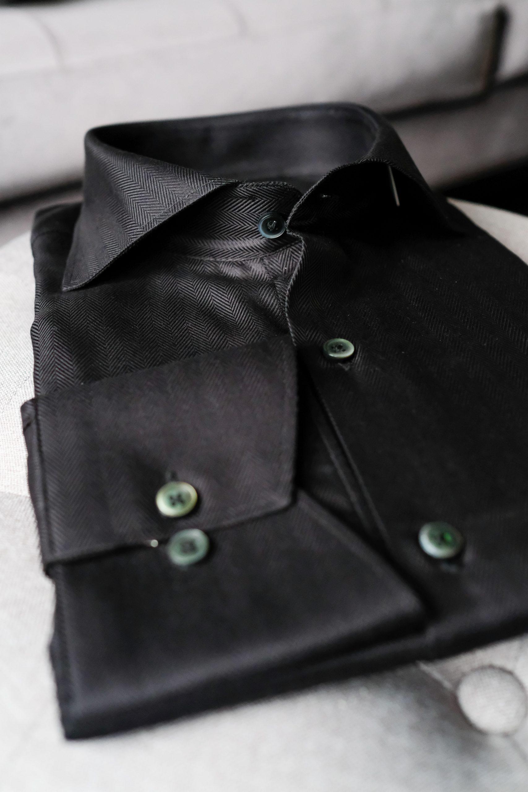 Egyptian Cotton Black Mens Dress Shirt