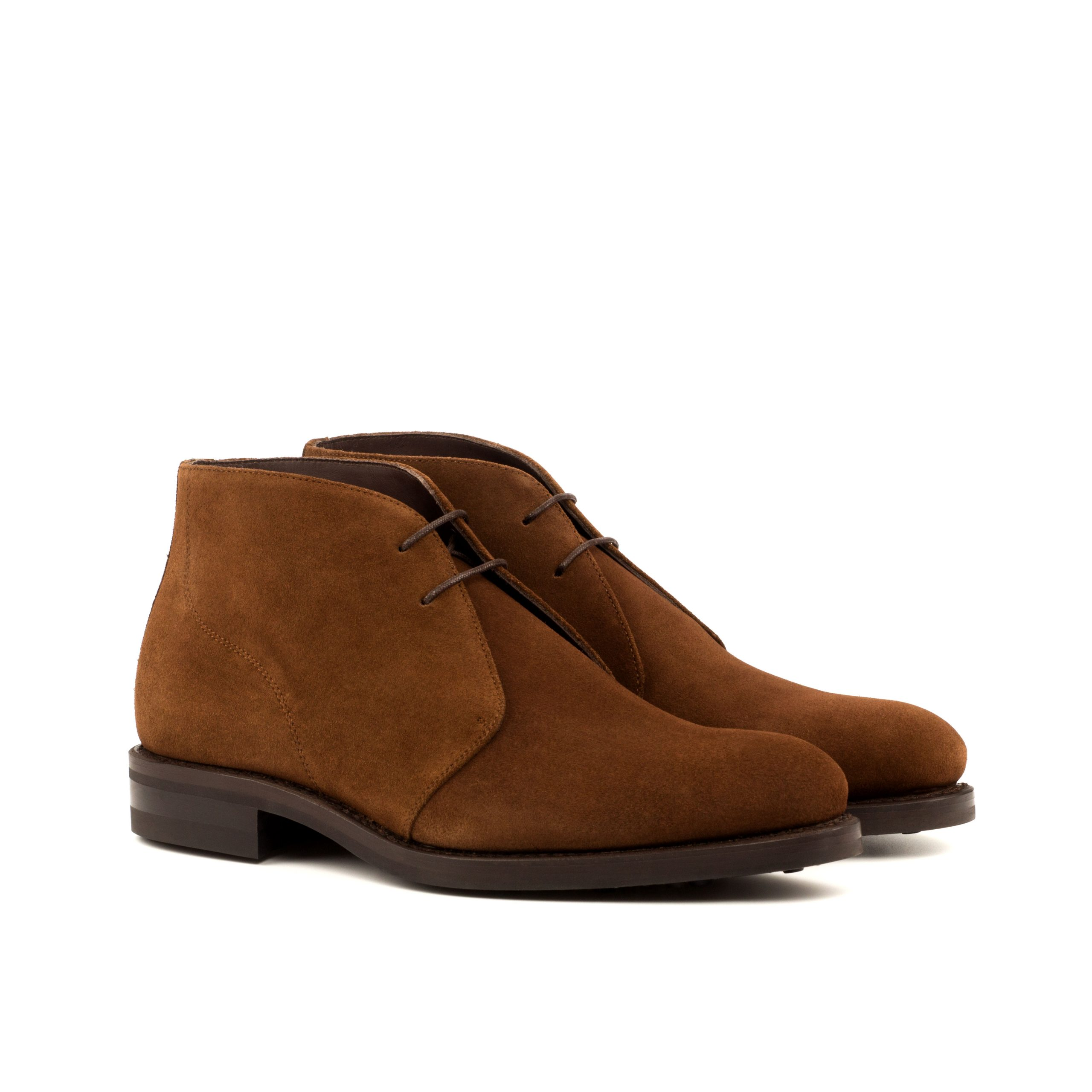 Chukka Goodyear Welted - Lux Suede Med Brown-Ang5