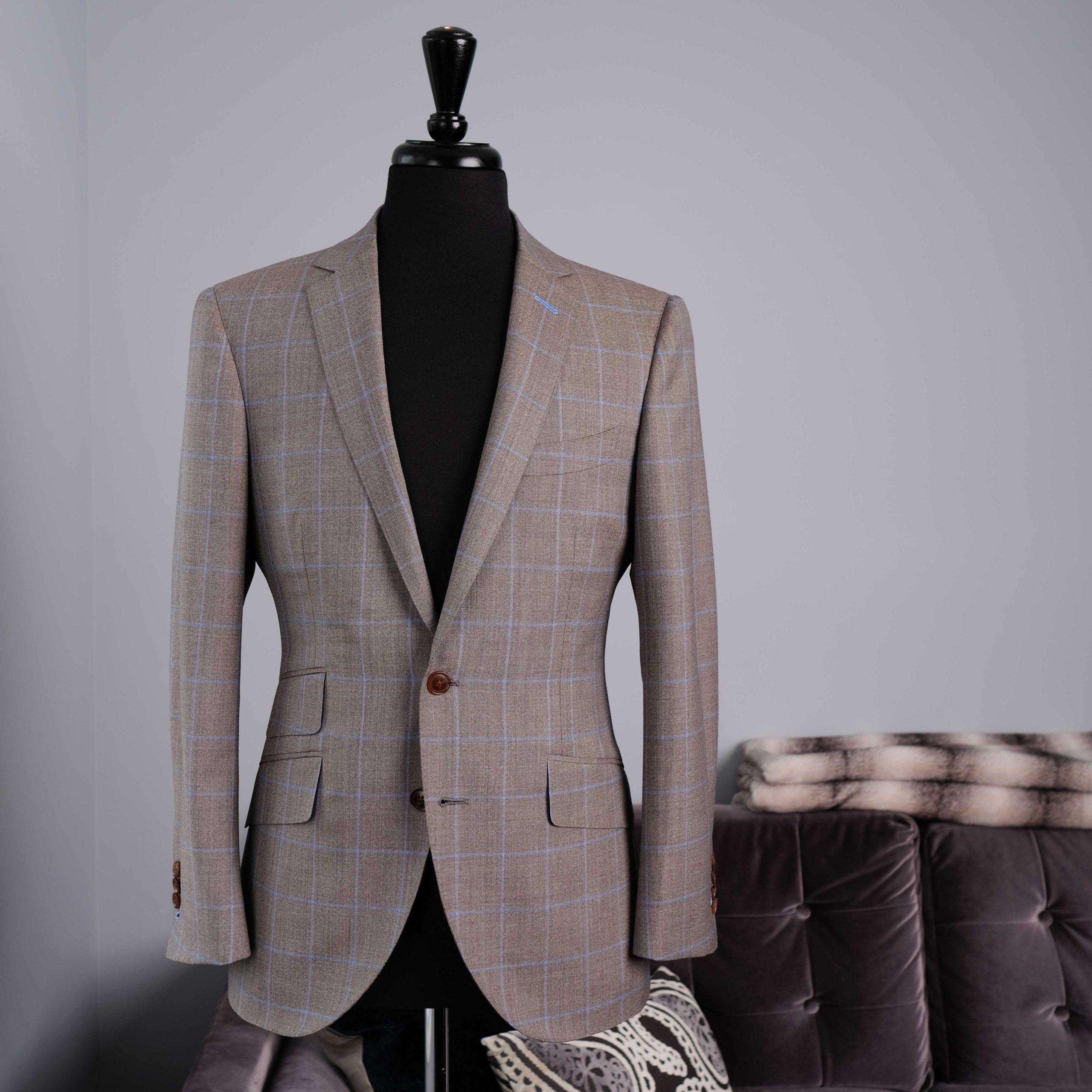 Brown Windowpane Bespoke Suit - Toronto