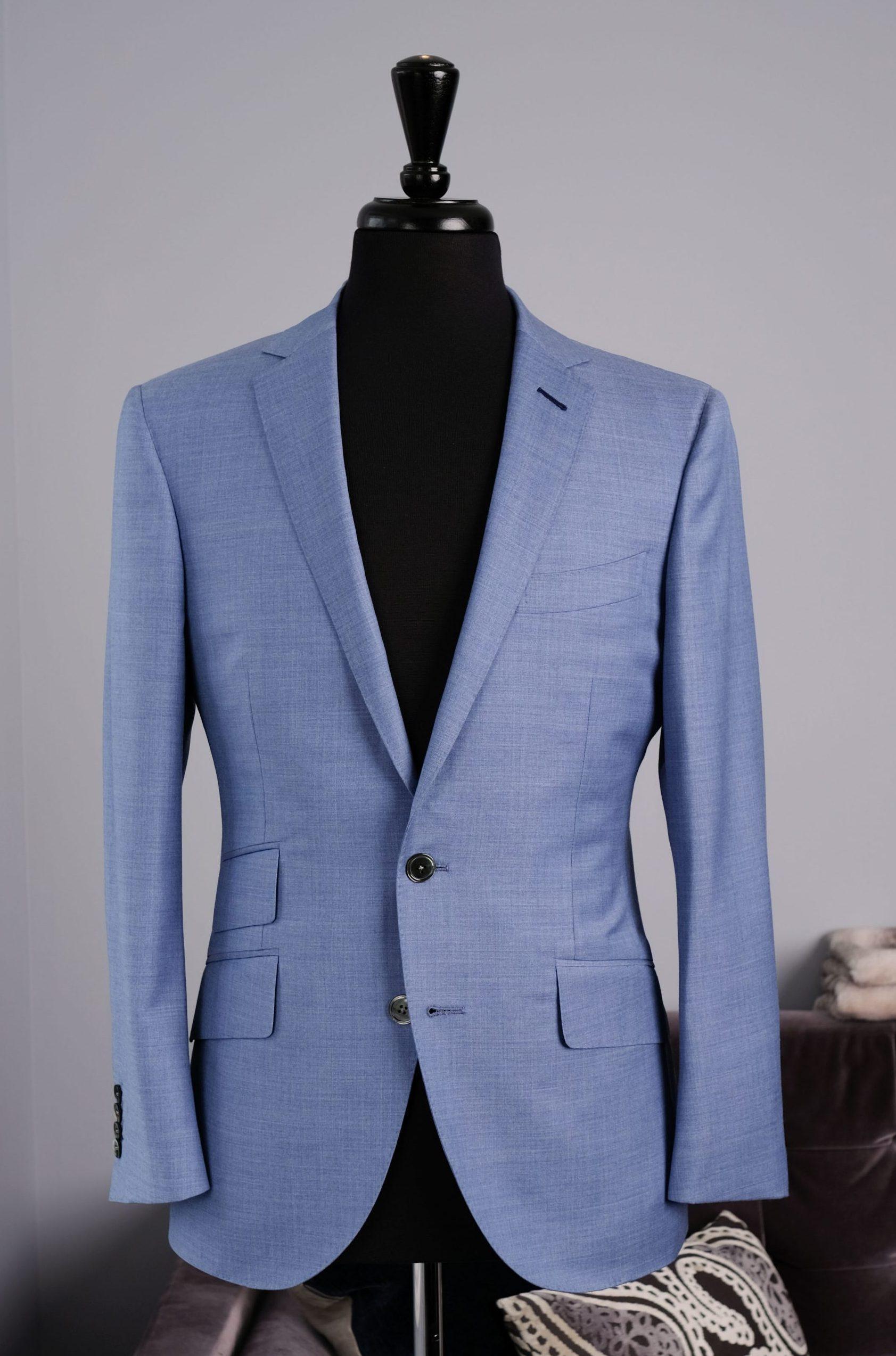 Light Blue Drago Bespoke Single Breasted Jacket