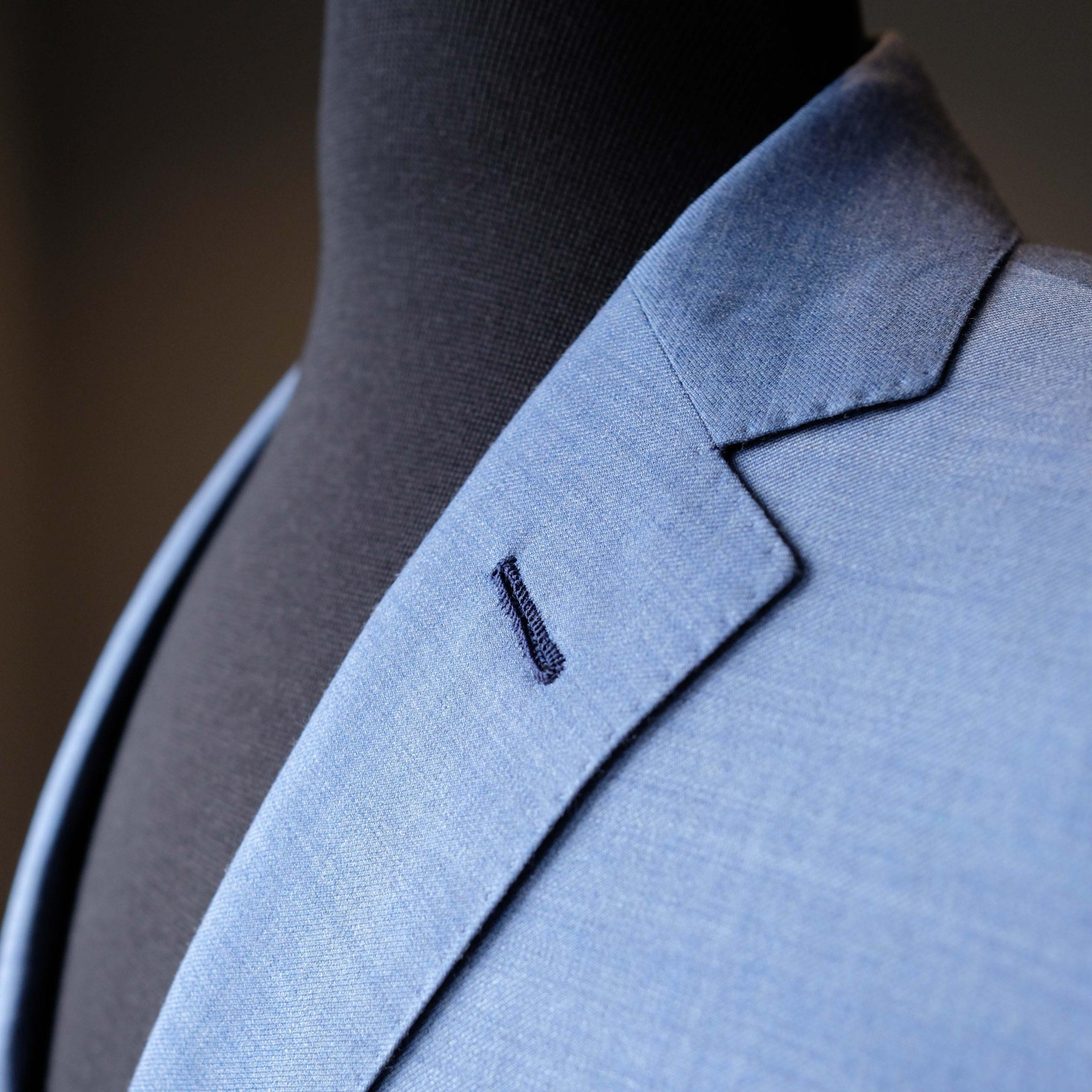 Milanese Buttonhole on Lapel with pick Stitching - Toronto