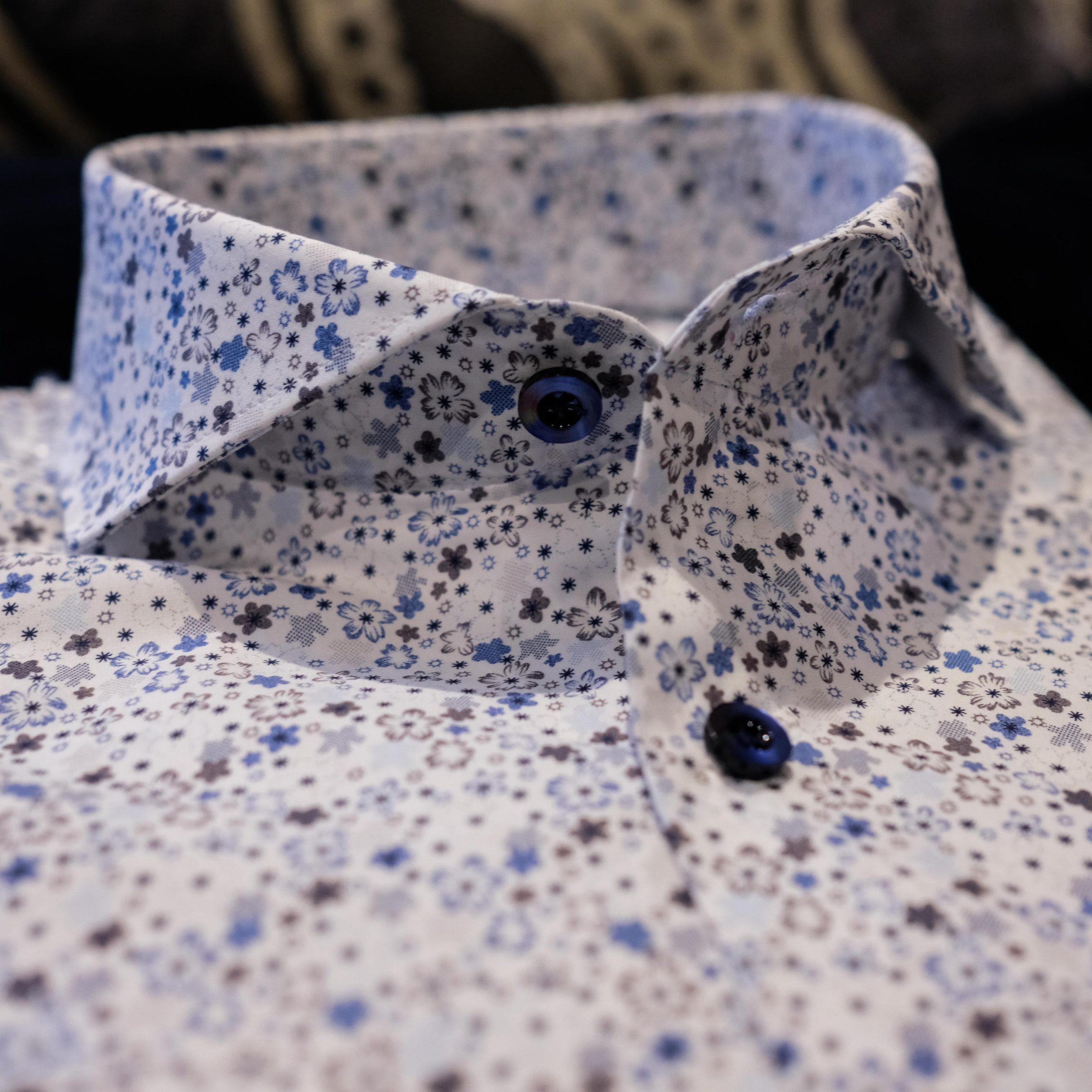 Andersonn Bespoke Dress Shirt - Blue Buttons