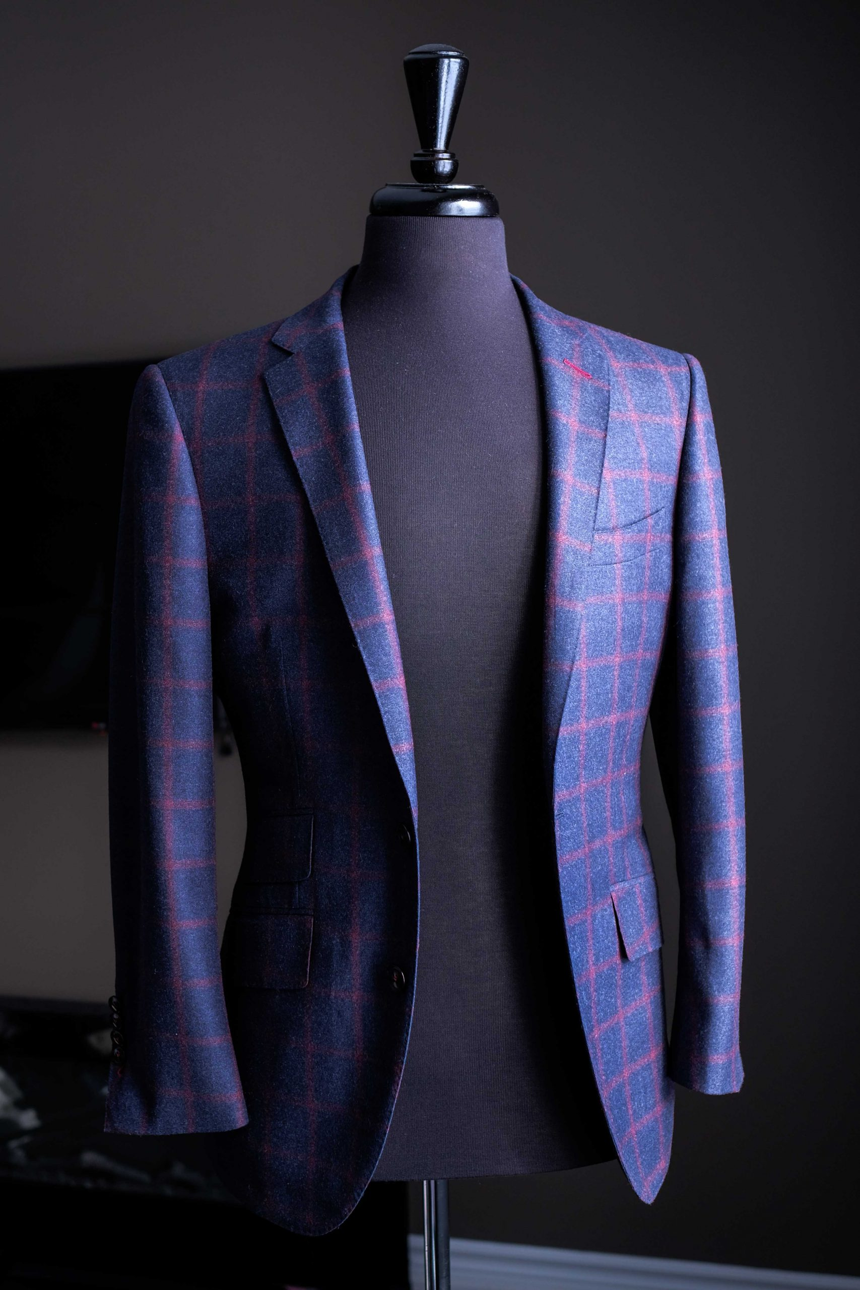 Tailored Windowpane Jacket
