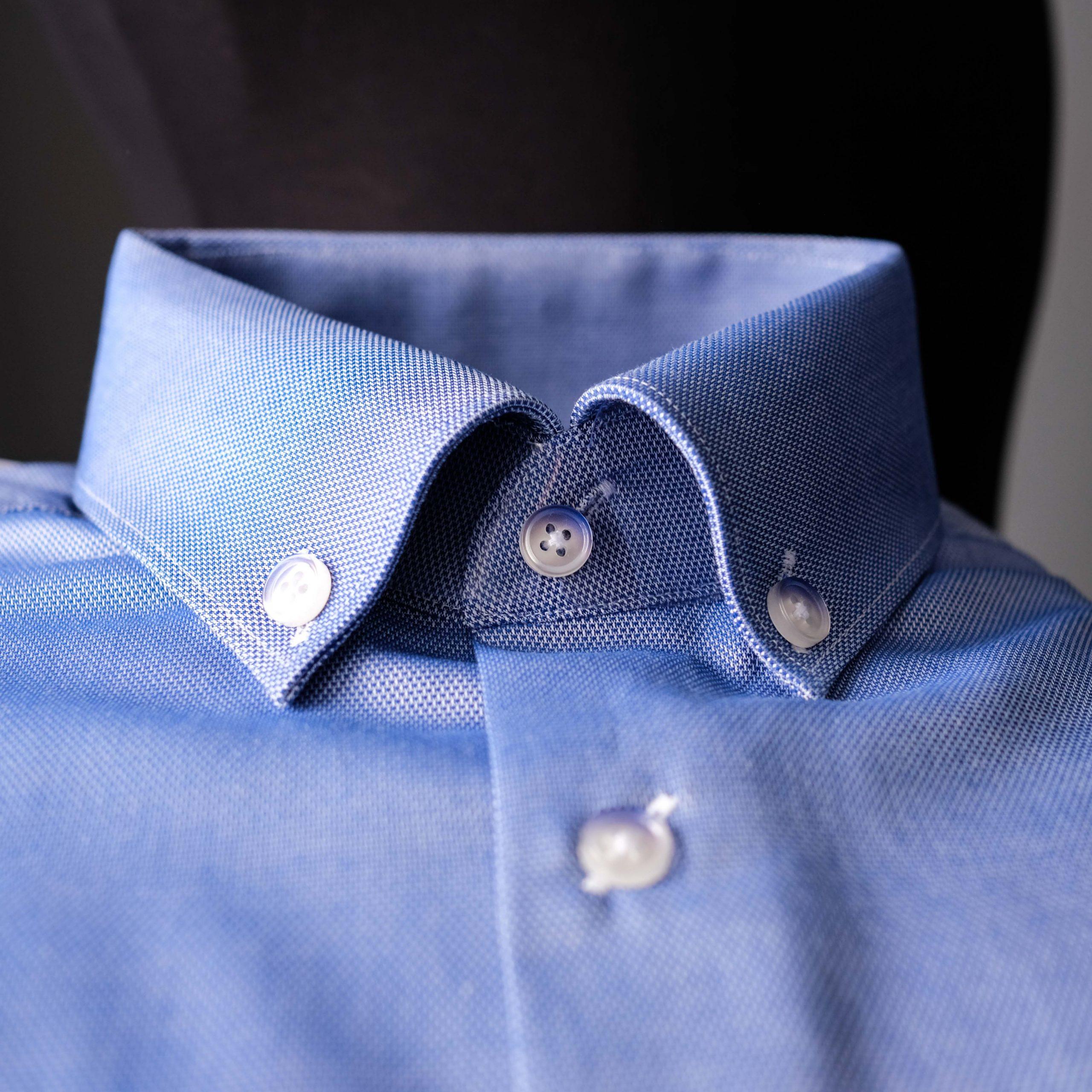Bespoke Mens Dress Shirt with Roll Collar - Toronto