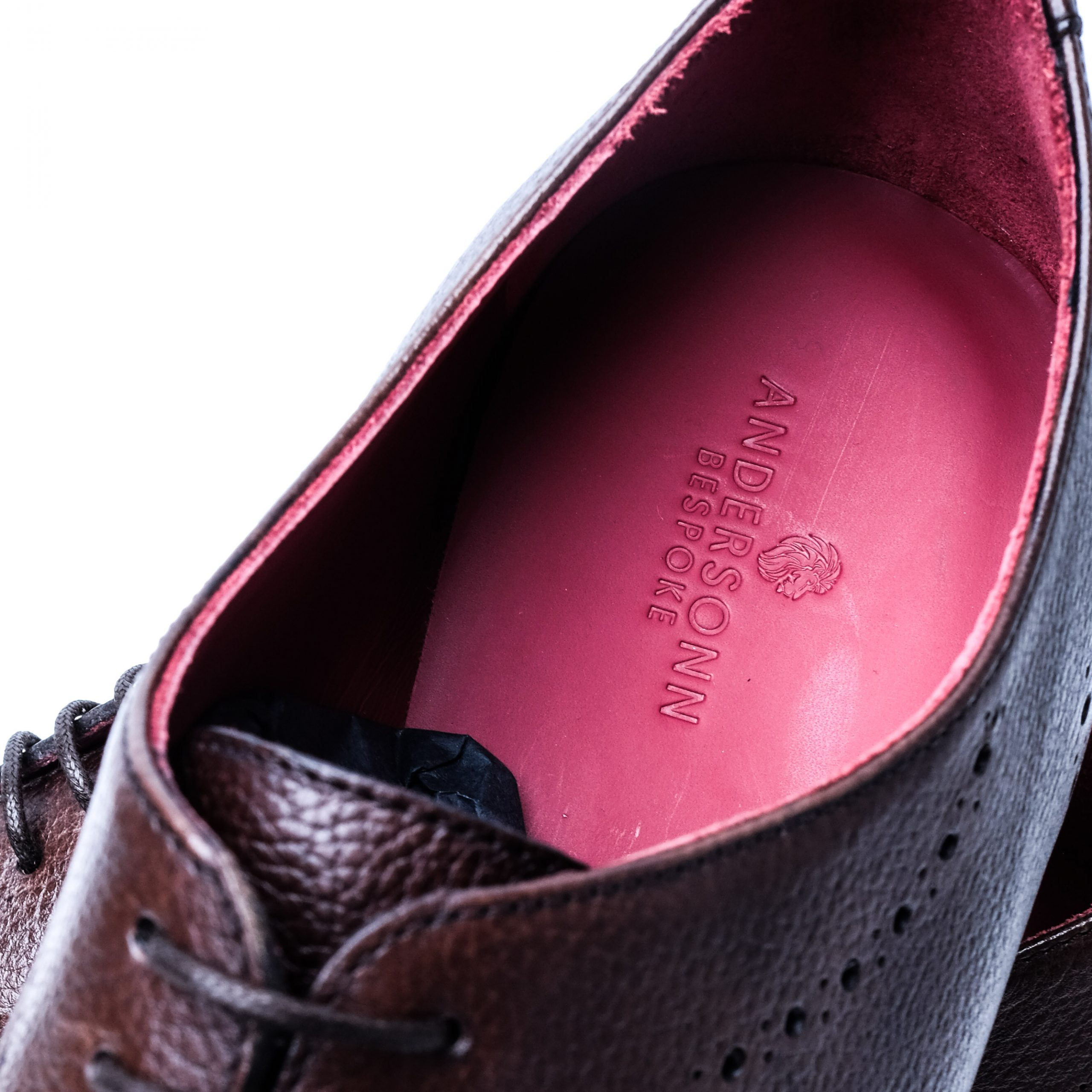 Custom Tailored Leather Dress Shoes Brown with Logo