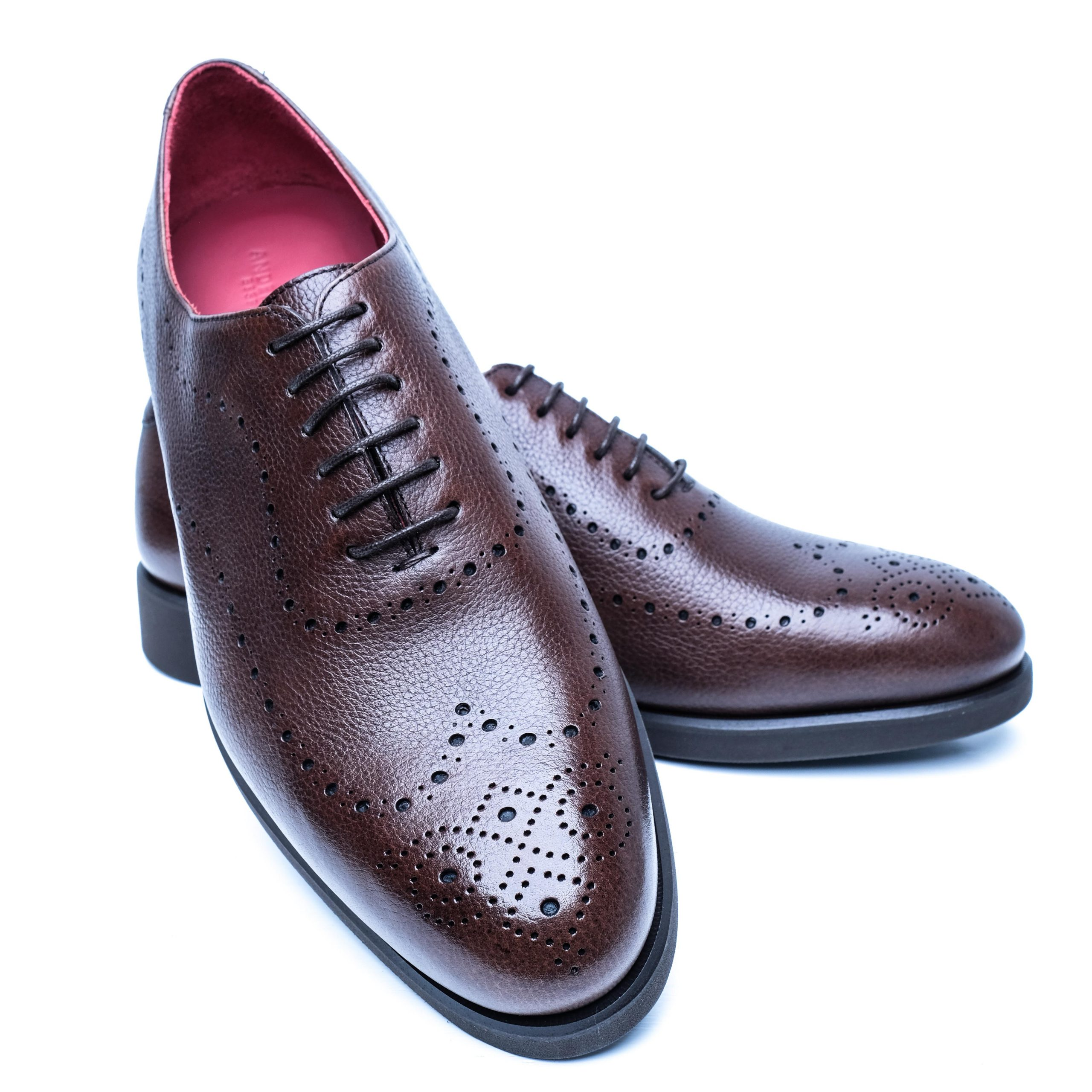 Custom Bespoke Full Brogue Mens Shoes - Wide Width