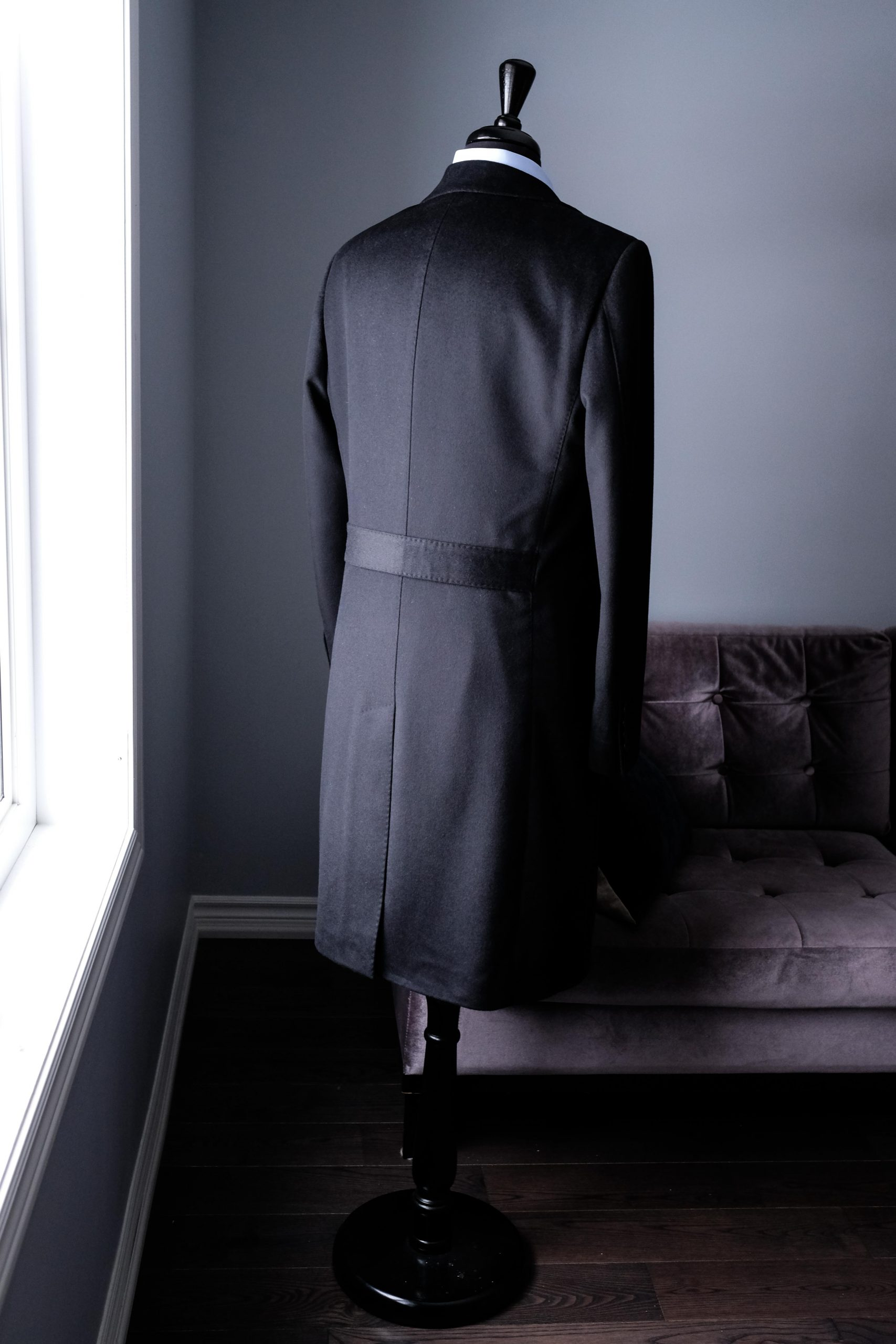 Wool and Cashmere Overcoat Back-band