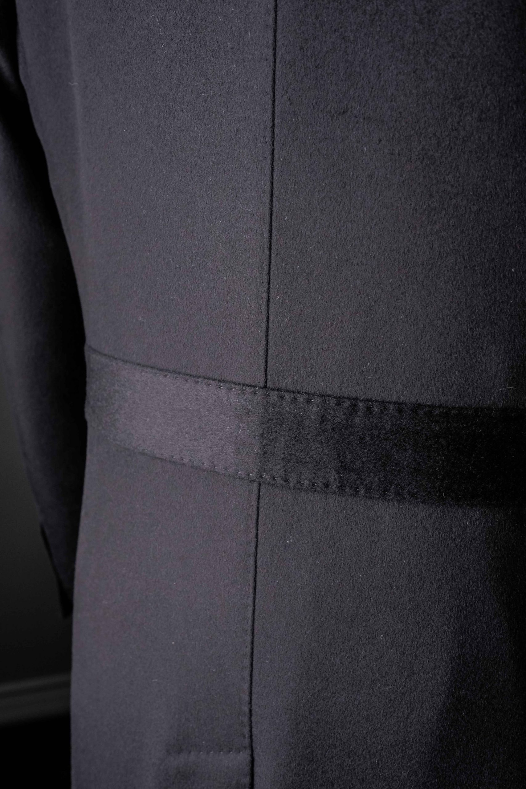 Wool and Cashmere Black Overcoat