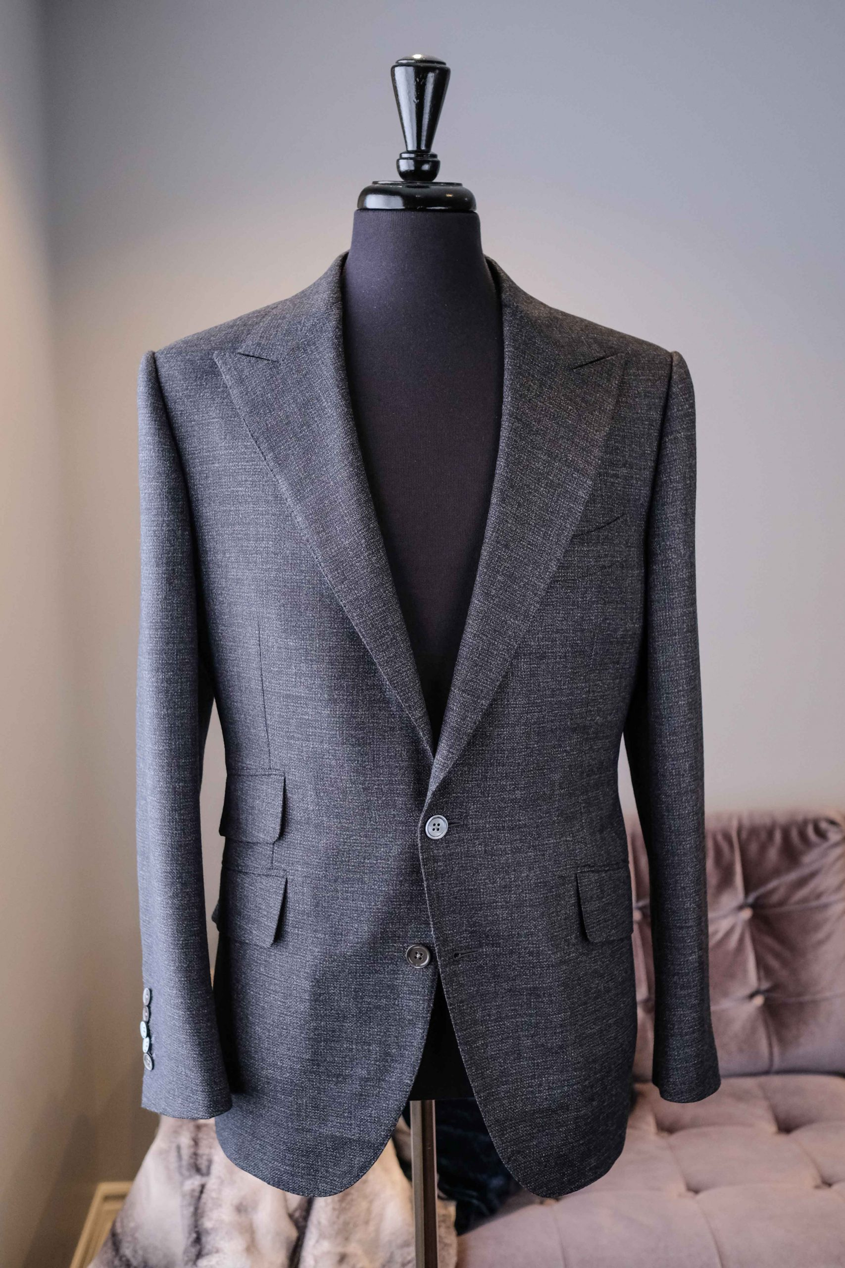 Bespoke Grey Custom Three Piece Suit - Toronto