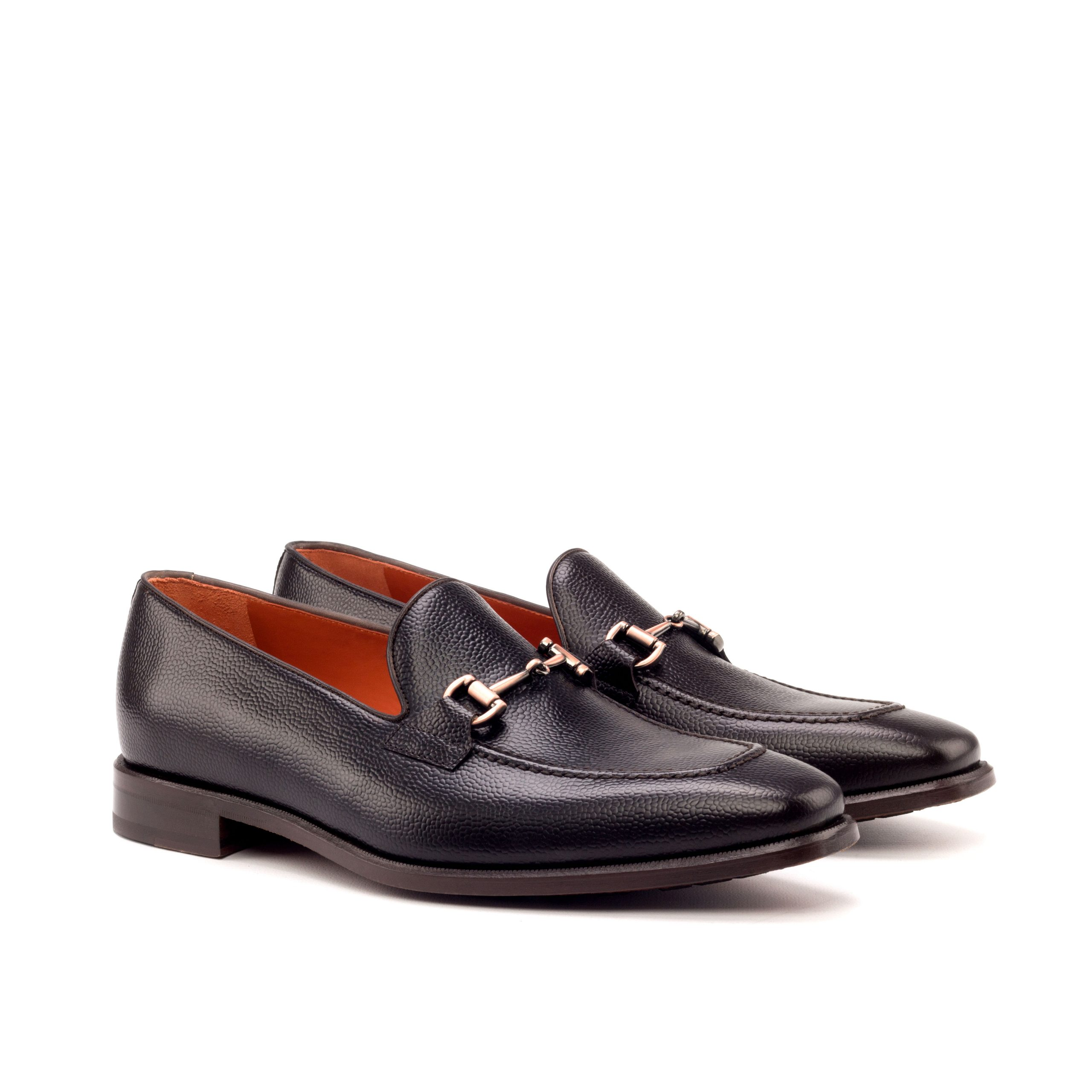 Loafer Bit - Painted Pebblegrain Dark Brown-Painted Calf dark Brown-Ang5