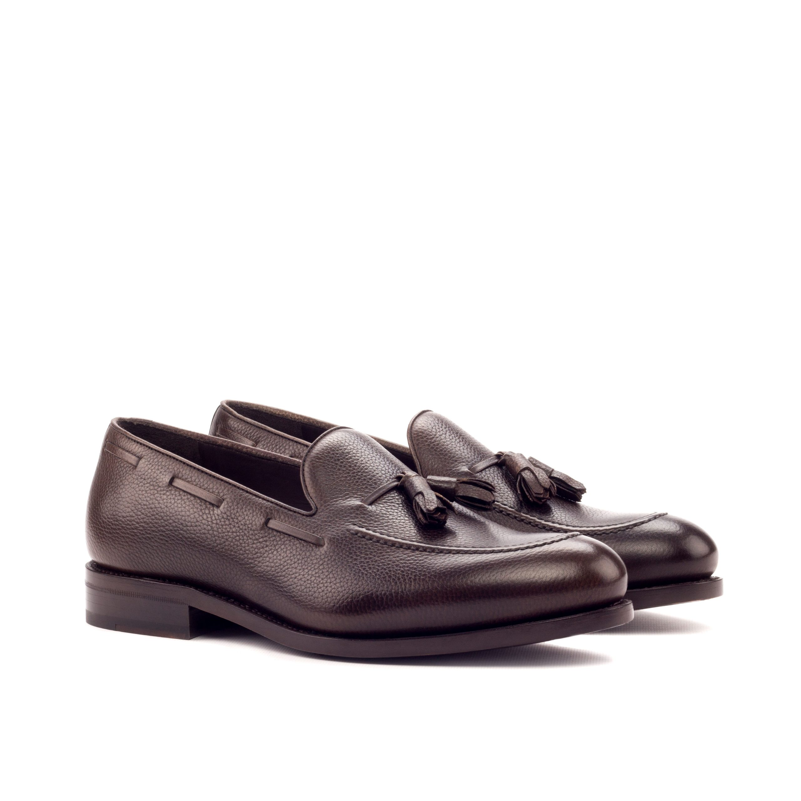 Loafer Goodyear Welted - Painted Full Grain Dark Brown-Ang5