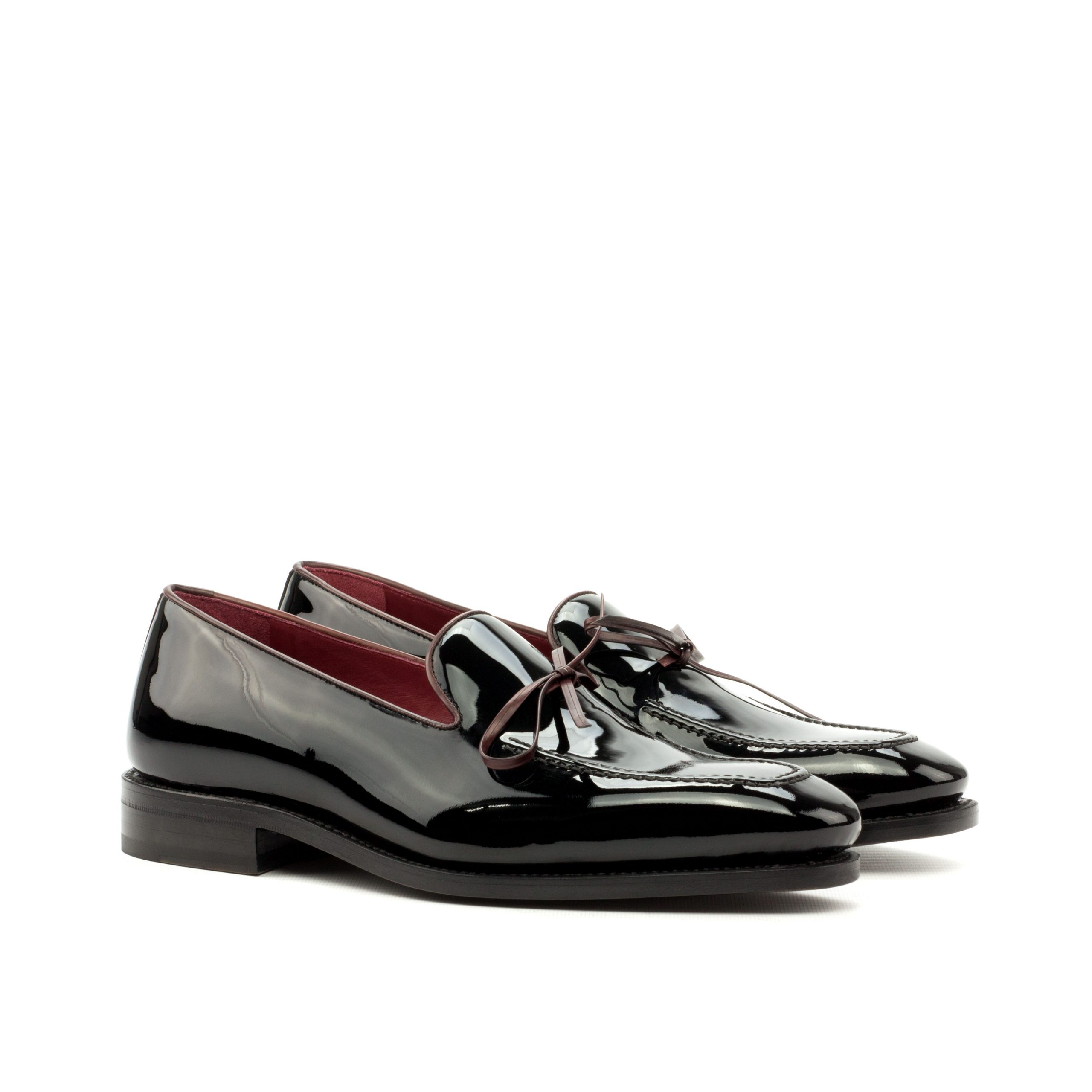 Loafer Goodyear Welted - Patent Black-Polished Calf Burgundy-Ang5