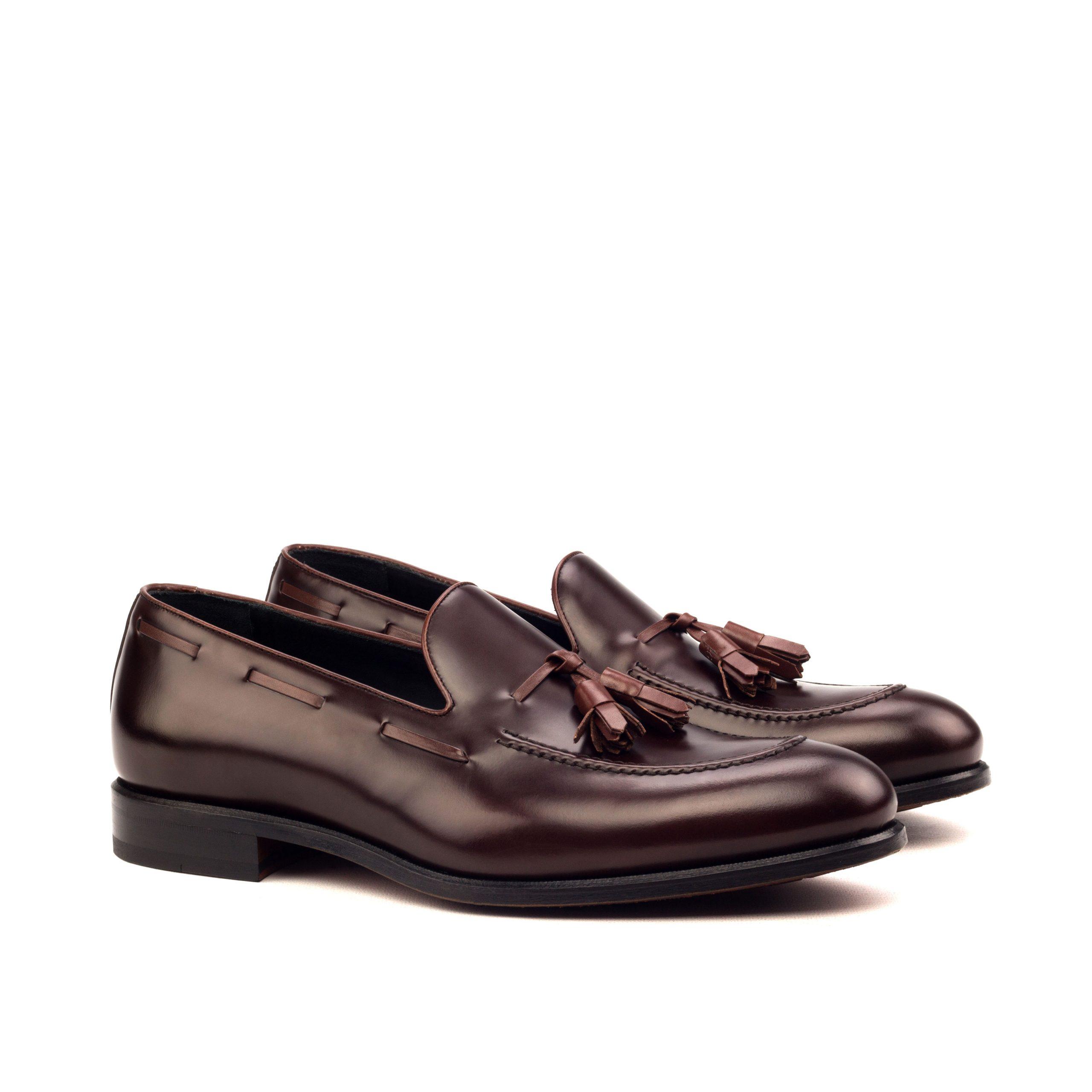Loafer Tassels - Polished Calf Brown-Box Calf Med Brown-Ang5