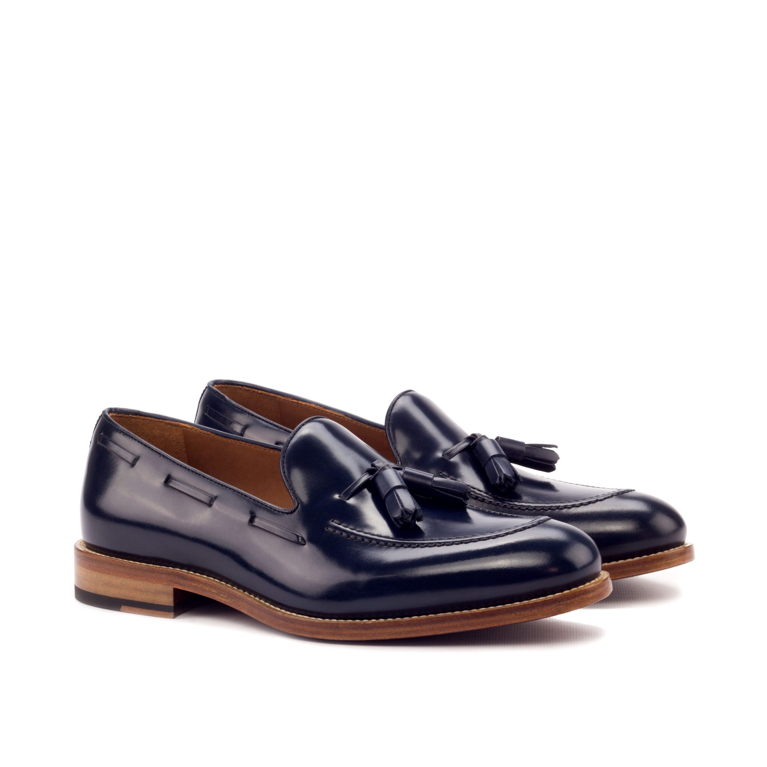 Loafer Tassels - Polished Calf Navy-Ang5