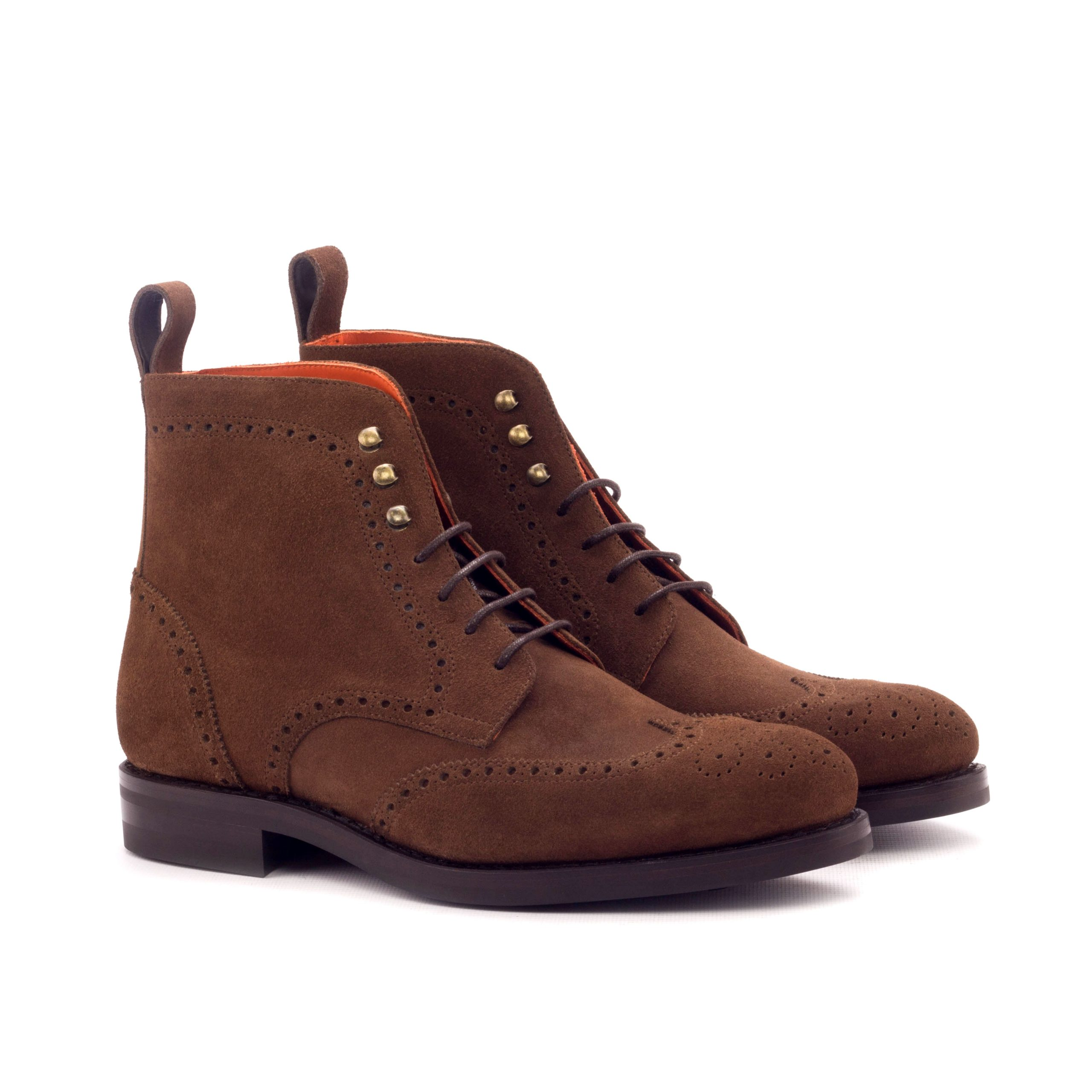 Military Boot Goodyear Welted - Lux Suede Med Brown-Ang5