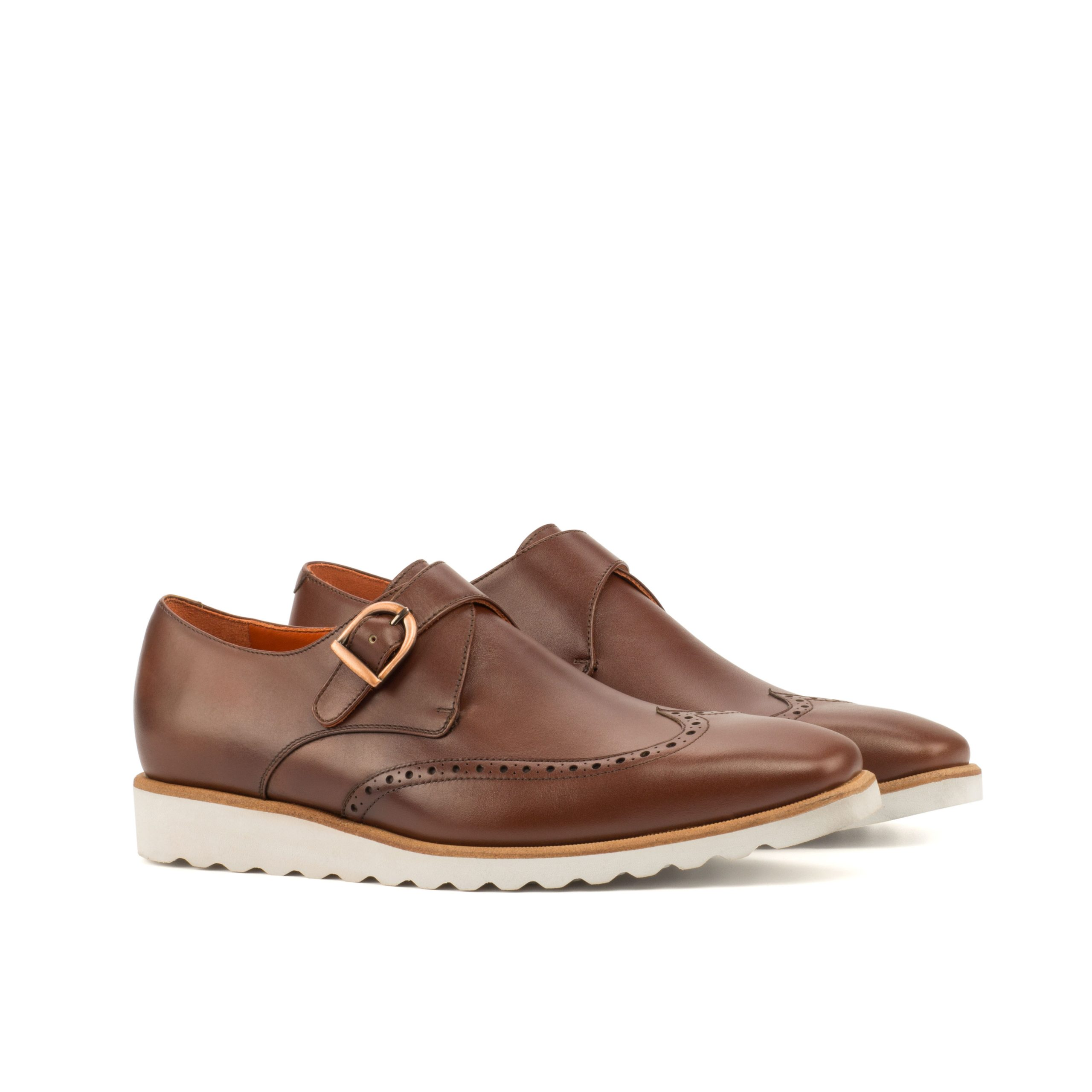Single Monk - Box Calf Med Brown-Sportwedge Sole-Ang5