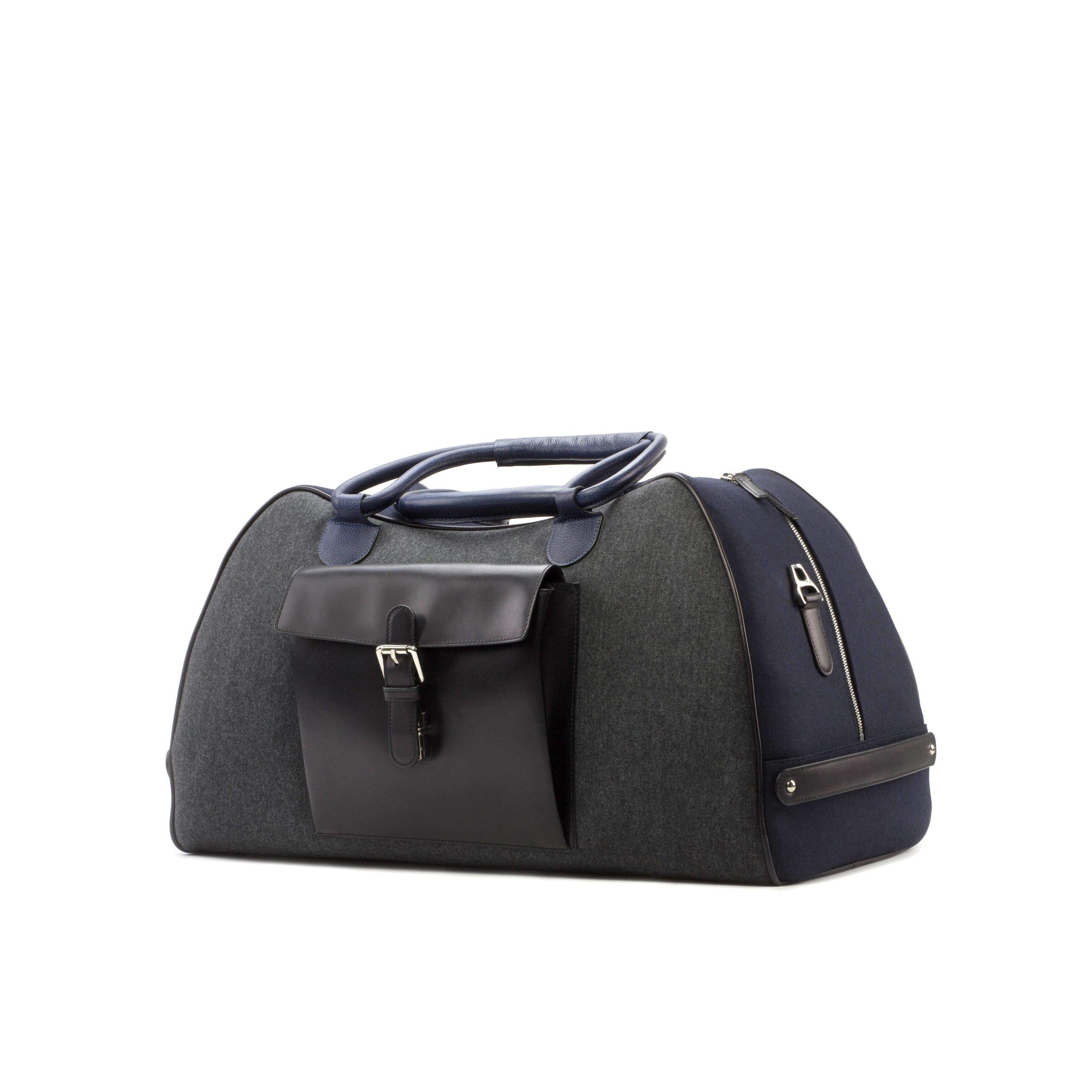Travel Duffle - Flannel dark Grey-Flannel Navy-Painted Calf Black-Painted Full Grain Navy-Ang2